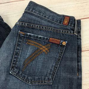7 For All Mankind DOJO Flare Dark Wash Jeans